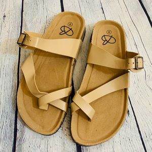 Sandals Brown Double Strap Size 8